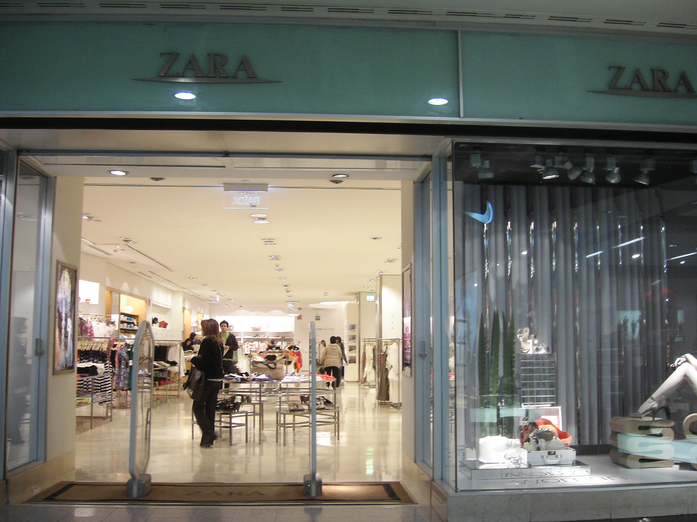 Retailers in UK, Zara